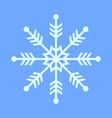 thin snowflake symbol vector image vector image