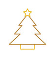 tree pine star decoration cartoon vector image vector image