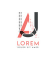 ua modern logo design with gray and pink color vector image vector image