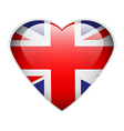 UK flag button vector image vector image