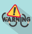 Warning Typography Design vector image vector image