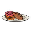 Yummy sweet donut icon