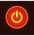 Red neon button vector image