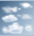 realistic clouds in the sky vector image