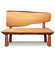 A wooden table vector image vector image