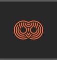 Abstract owl head logo creative design