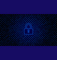 abstract tech bg with lock access protection vector image