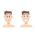 acne man vector image vector image
