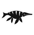 aquatic dinosaur icon simple style vector image vector image