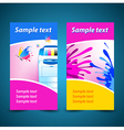 banner print printer background abstract blue text vector image vector image