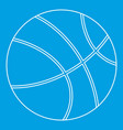 basketball icon outline style vector image vector image