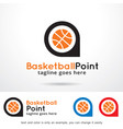 basketball point symbol template design vector image