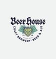 beer house logo brewing company beer pub label vector image