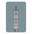 belfort tower in mons belgium vector image