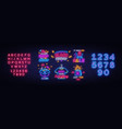 big set black friday neon signs black friday vector image