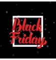 Black Friday Lettering with Frame vector image