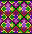 bright mosaic seamless pattern of multicolored vector image vector image