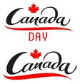 Canada Day Set lettering text for greeting card vector image vector image