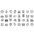 Cardiologist icons set outline style