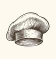 chef hat sketch restaurant concept vintage vector image
