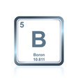 chemical element boron from the periodic table vector image vector image