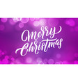christmas background xmas lights and merry vector image