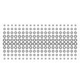cogwheel shape halftone grid vector image vector image