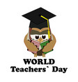 concept on the world teacher s day with the image vector image