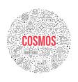 Cosmos Circle Concept vector image vector image