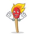 Crazy match stick mascot cartoon