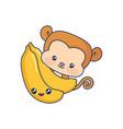cute monkey animal baby vector image