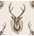 Deer head trophy sketch seamless pattern vector image
