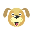 Dog Face in Flat Design vector image