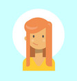female emotion profile icon woman cartoon vector image