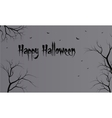 Flat backgrounds halloween dry tree vector image vector image