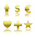 Glossy Symbols vector image vector image
