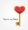 golden key opens the heart vector image vector image