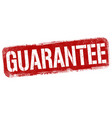 guarantee sign or stamp vector image