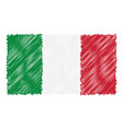hand drawn national flag of italy isolated on a vector image