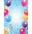 happy birthday and celebration poster vector image vector image