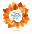 happy thanksgiving day circular ornament made of vector image vector image
