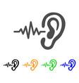 hearing signal flat icon vector image vector image
