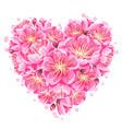 heart background with sakura or cherry blossom