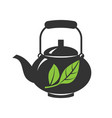 icon teapots isolated on a white vector image vector image
