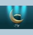 islamic design hajj greeting card template vector image vector image