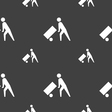 Loader icon sign Seamless pattern on a gray vector image vector image