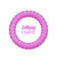 lollipop round violet frame vector image vector image