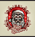 merry christmas santa claus mascot with ornaments vector image