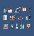 museum historical large set guide with an ancient vector image vector image
