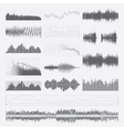 Music sound waves set isolated on a white vector image